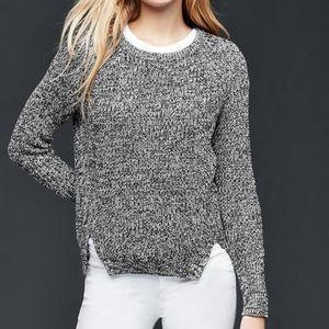 GAP High slit sweater in clean coal size XS